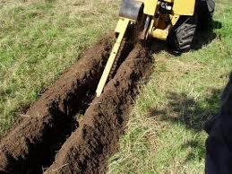 Sleuf graven tuin